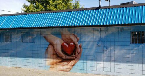 Thrift Shop Mural Grand Forks BC